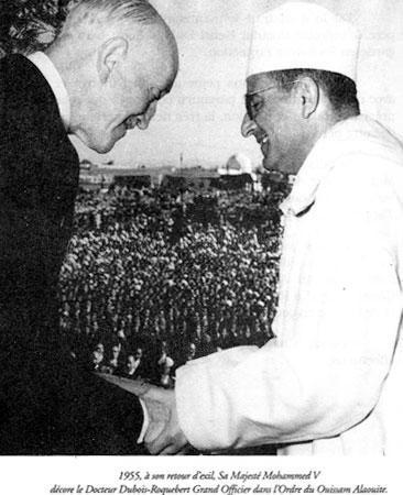 Docteur -henri-dubois-roquebert- et SM Mohhammed V en 1955.jpg